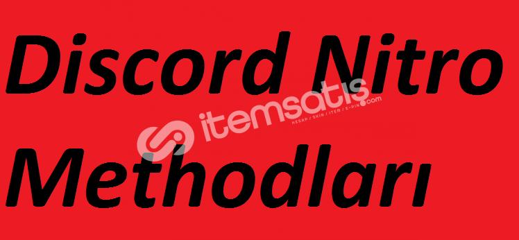 Discord Nitro Methodları [hediyeli]