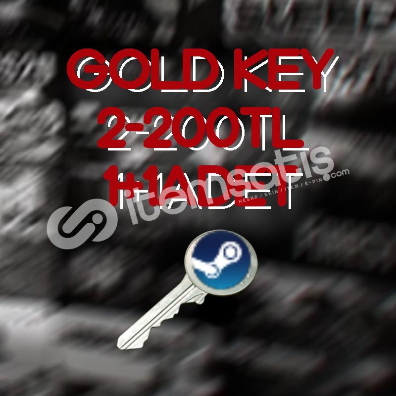 STEAM 2ADET GOLD RANDOM KEY (AÇIKLAMA!!)