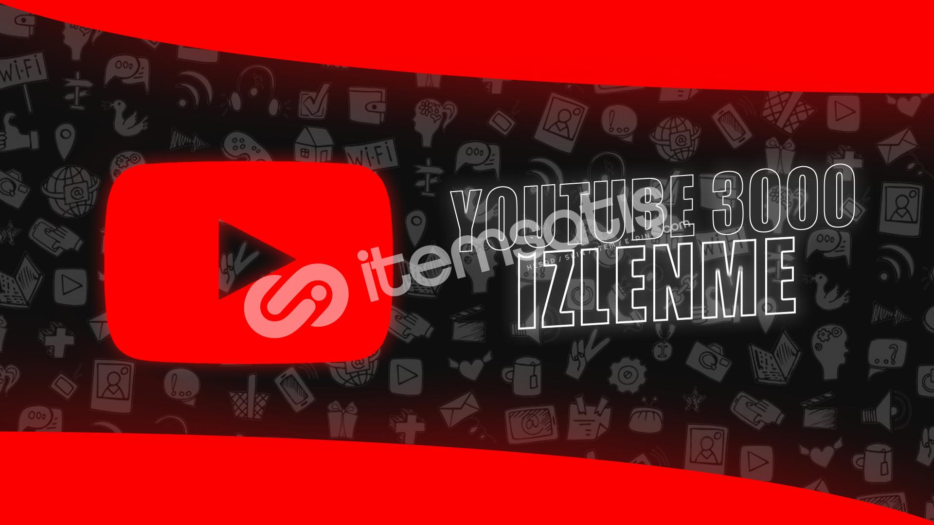 Çalışan Tek Servis! YouTube 3000 İzlenme - 18TL