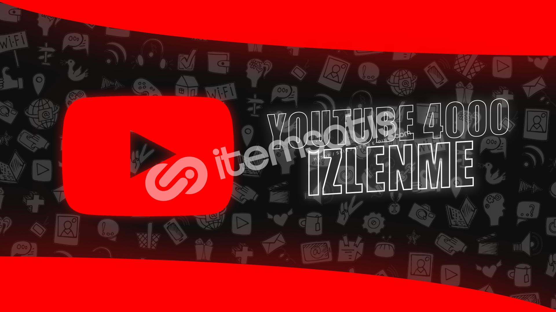 Çalışan Tek Servis! YouTube 4000 İzlenme - 24TL