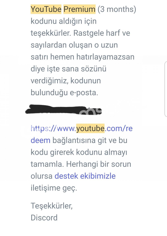 2 ADET 3 AYLIK YOUTUBE PREMİUM!