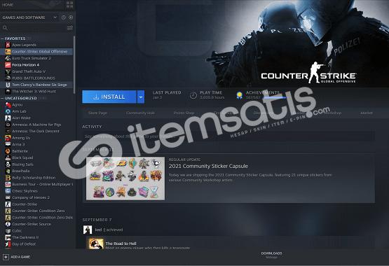 11 Yıllık Steam Hesabı + 3 bin saat CS:GO