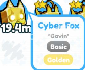 Pet Sim X Golden 20m Güç Cyber Fox 5tl5