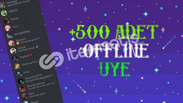 500 Adet Offline Üye