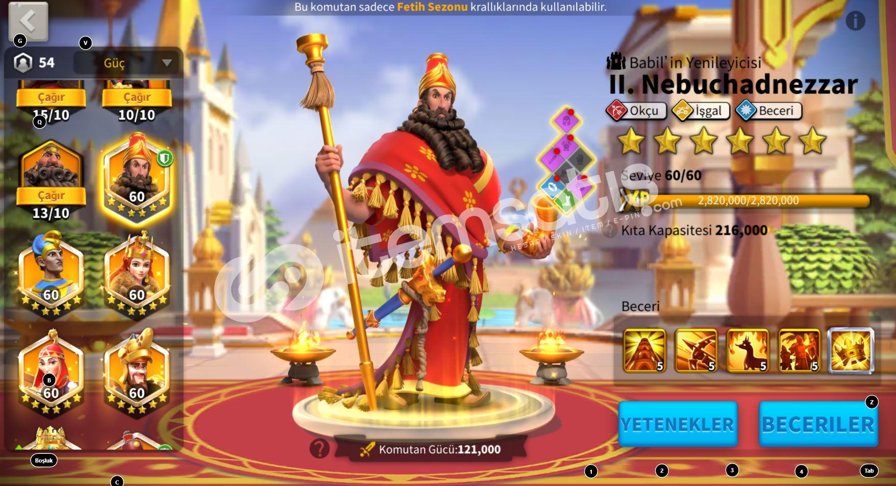 Rise of kingdoms Okçu Hesap 75M vip15
