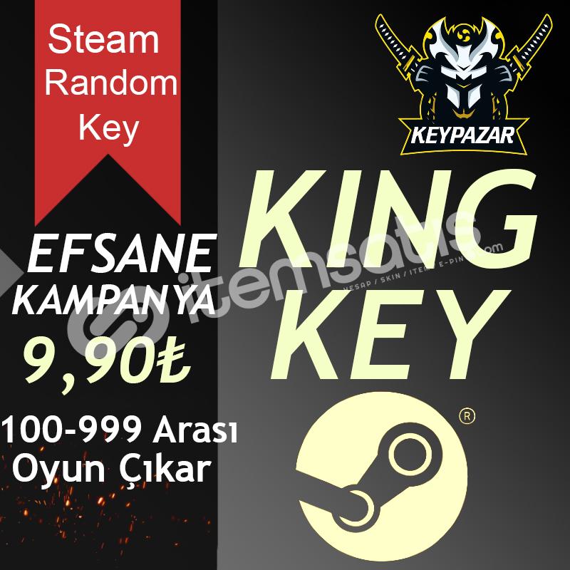 Steam Random Key KİNG 100-999 TL Oyun Çıkar