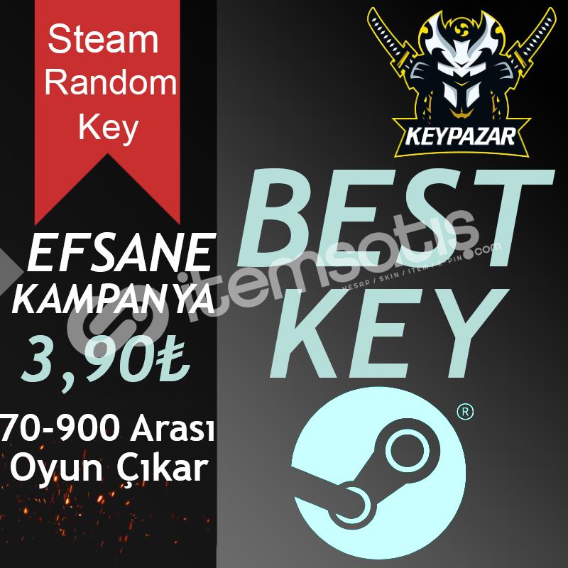 Steam Random Key BEST 70-999 TL Oyun Çıkar