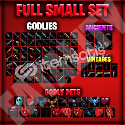 (İNDİRİM)MM2 Small Set+Pet Set[102 Godly]