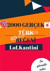 2000 TÜRK BEĞENİ / HIZLI GÖNDERİM/12K BAŞARILI