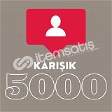 +5000 İnstagram Karışık Takipçi
