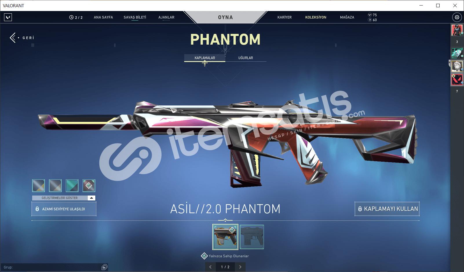 Asil Phantomlu Altın 1 Hesapl
