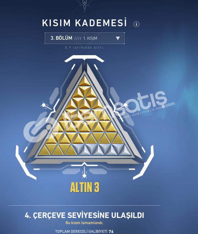 ALTIN 3 2BATTLEPAS TR MAİL 935TL YATIRILDI