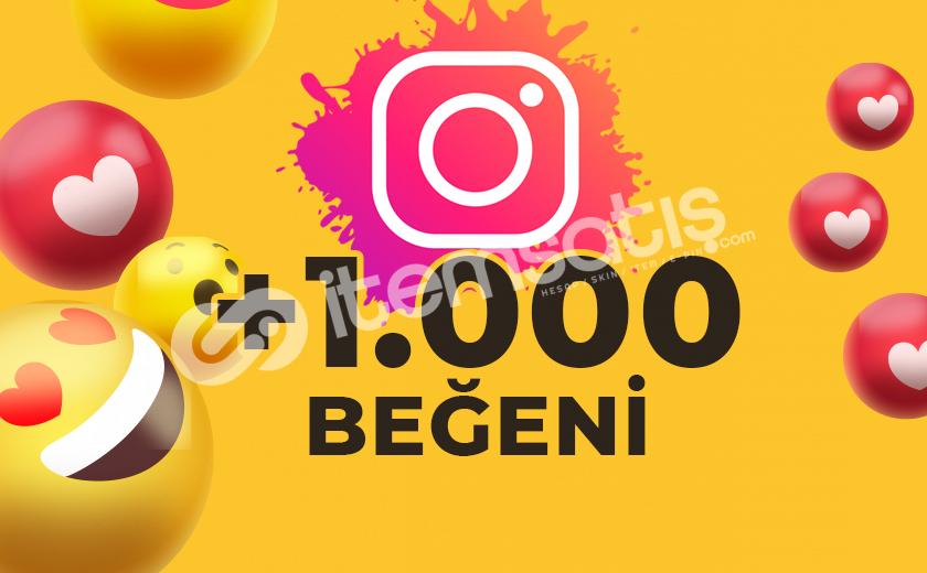1.000 KARIŞIK BEĞENİ (ANLIK)
