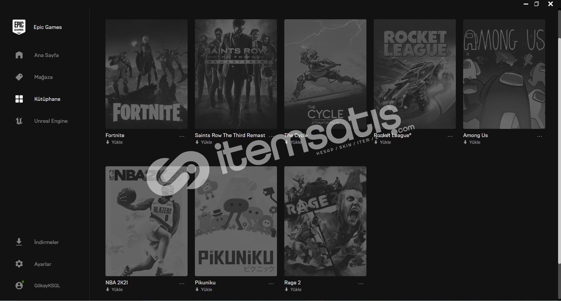 (900 TL değerinde) Uygun Epic Games hesabı