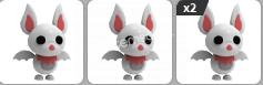 adopt me 4 tane albino bat