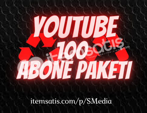 100 Youtube [15 Gün Telafi] Abone Paketi