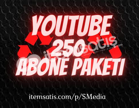 250 Youtube [15 Gün Telafi] Abone Paketi