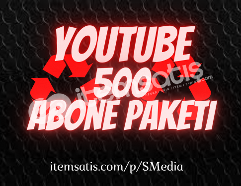 500 Youtube [15 Gün Telafi] Abone Paketi