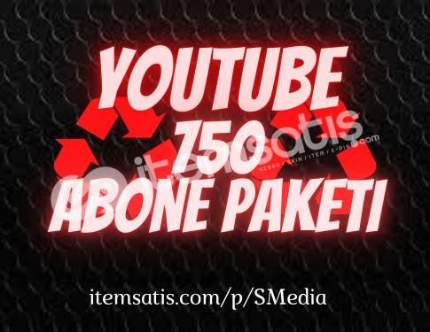 750 Youtube [15 Gün Telafi] Abone Paketi