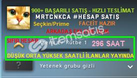 Seçkin/Prime |296 SAAT| FACEİT KURULMAMIŞ HAZIR