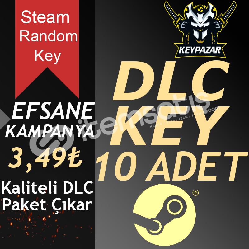 Steam Random Key DLC 10 ADET Kaliteli Paket