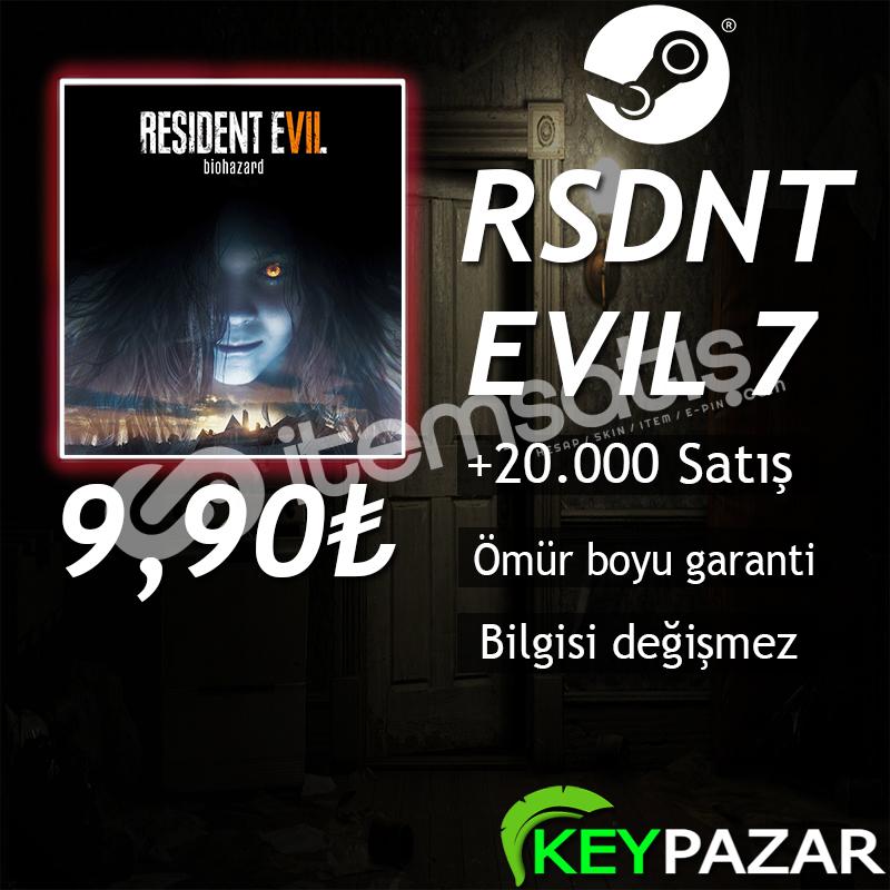 RESİDENT EVİL 7 ÖMÜR BOYU GARANTİ + HEDİYELİ! S