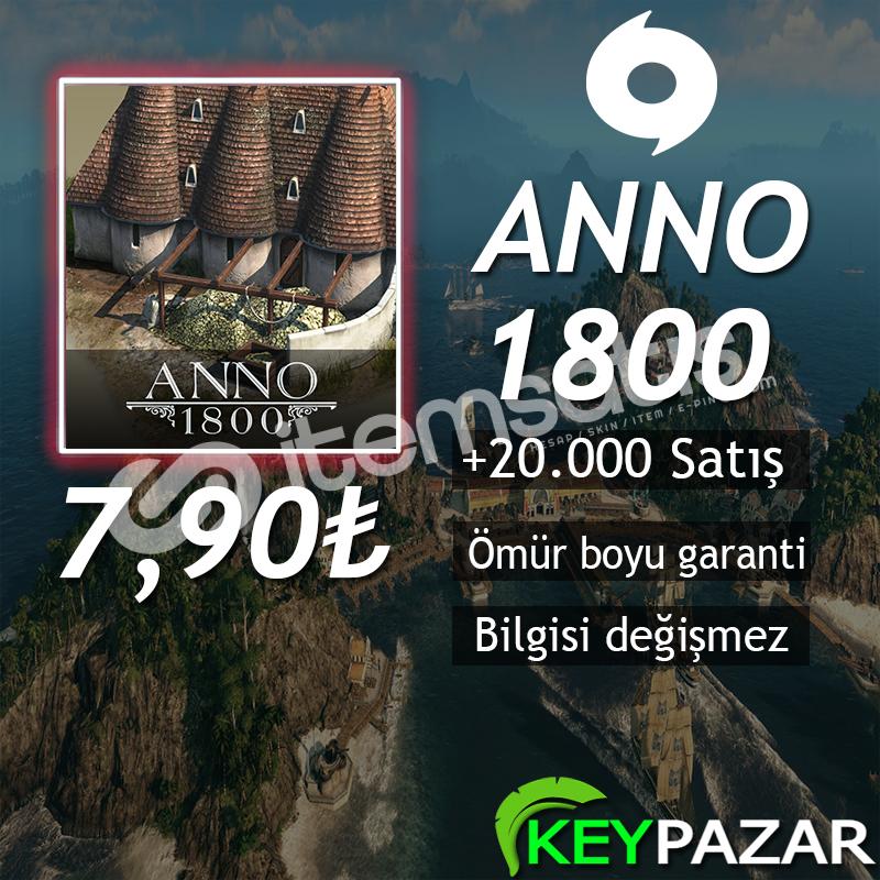 ANNO 1800 ÖMÜR BOYU GARANTİ + HEDİYELİ! ORİGİN