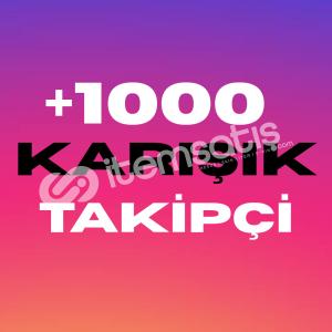 [İNDİRİM] 1000 Karışık Takipçi | HIZLI GÖNDERİM