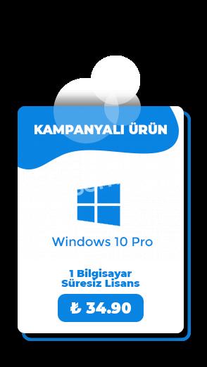 Windows 10 Pro Bireysel Dijital Lisans