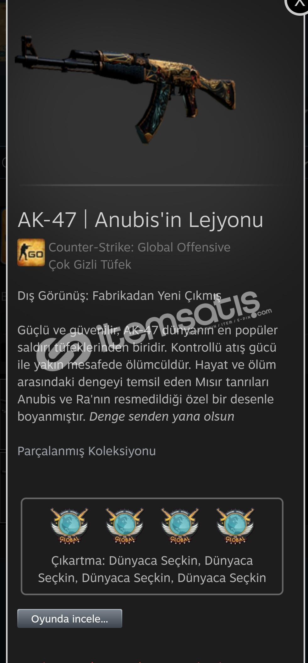 AK-47 | Anubis'in Lejyonu (Fabrika...)