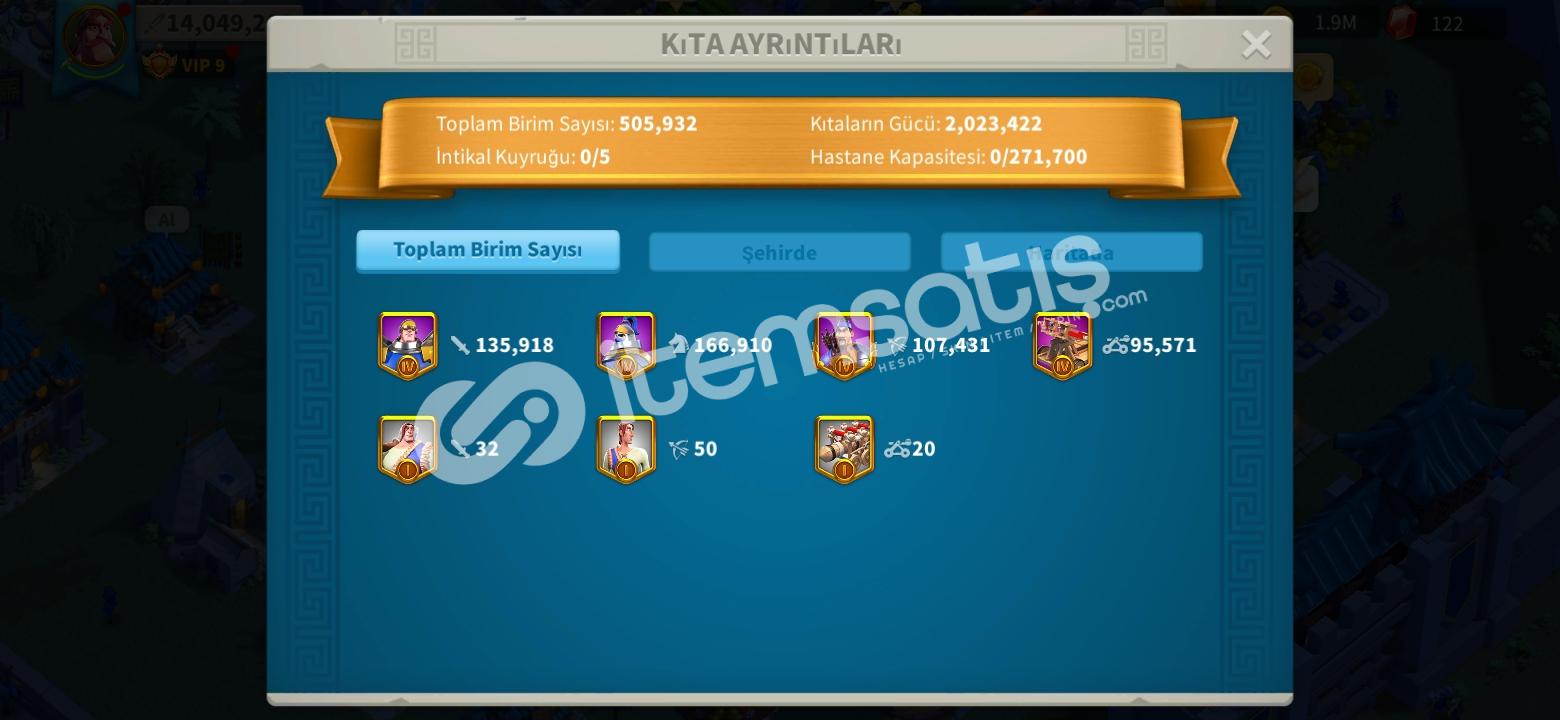 14M GÜÇ VIP 9 24 LEVEL BELEDİYE BİNASI HESAP
