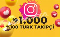 (%100 TÜRK) 1000 TÜRK TAKİPÇİ İNSTAGRAM