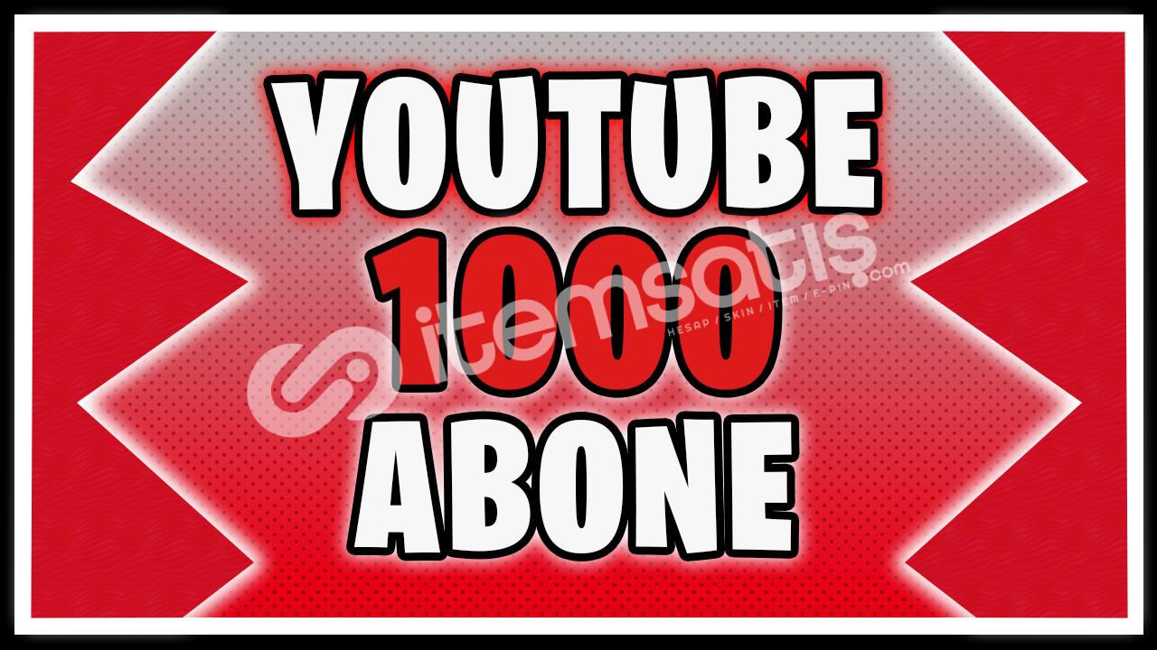 YouTube 1000 Abone (Telafi Garantisi ile)