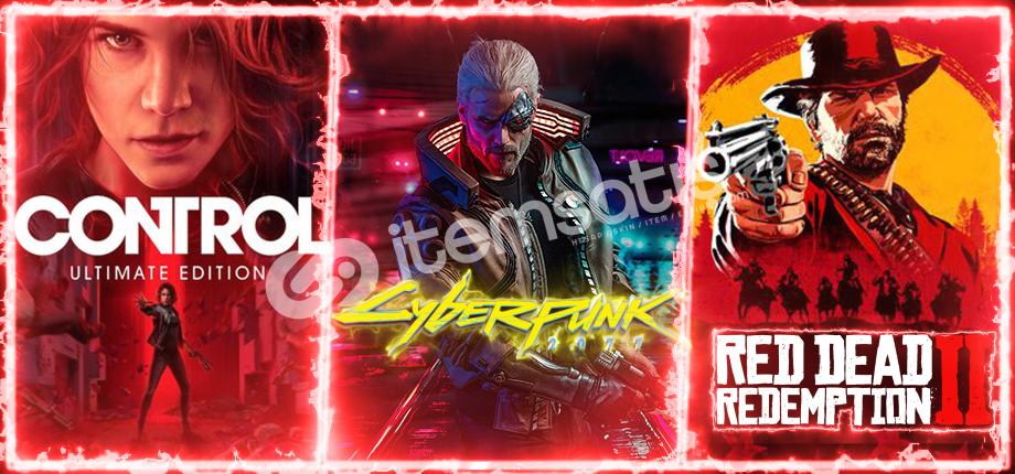 Control + Cyberpunk 2077 + RDR 2