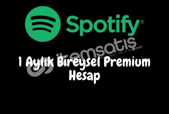 1 Aylık Spotify Bireysel Premium Hesap - Kişiye özel