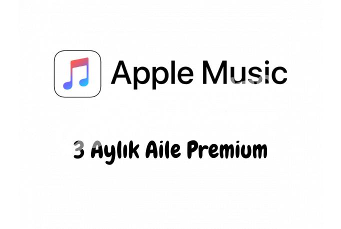 3 Aylık Apple Music Aile Premium Hesabı - Kişiye Özel