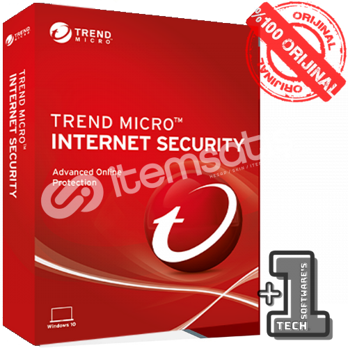 Trend Micro Internet Security 3 PC 1 YIL