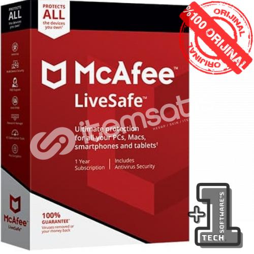 McAfee Live Safe 2021 - Unlimited Device 1 Yıl