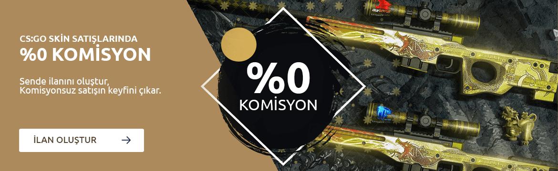 CS:GO Skin Satışlarında %0 Komisyon